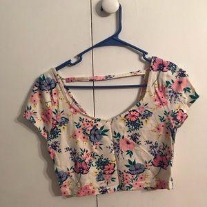 Charlotte Russe Tops - floral crop top
